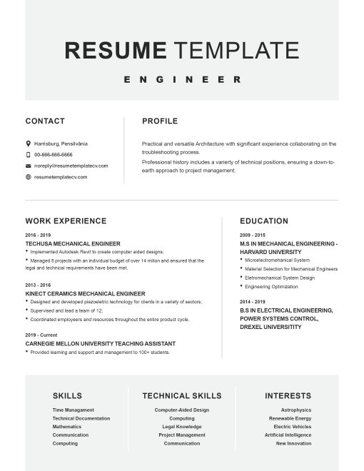 IDAA000140-Resume-Template-0007-Grey-1-Page-Engineering-No Picture