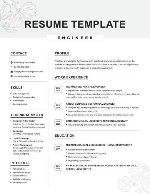 IDAA000141-Resume-Template-0008-Grey-1-Page-Engineering-No Picture