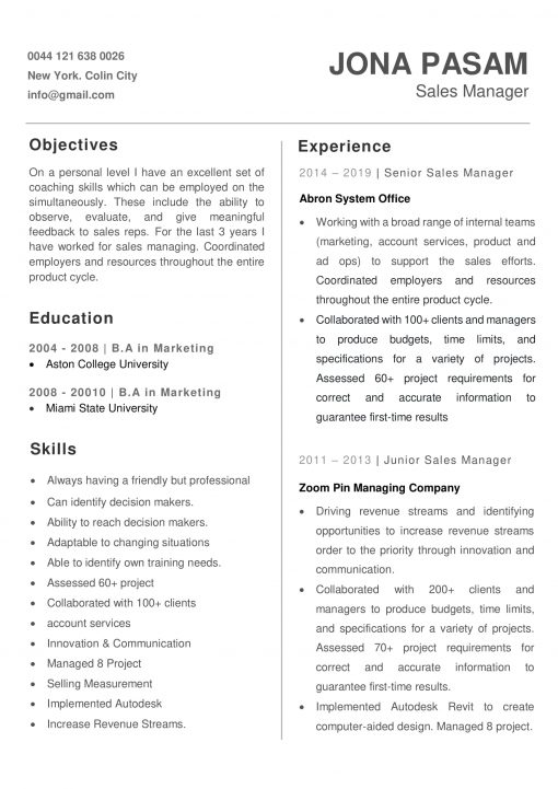 IDAA00056-resume-template-0007-white-1-page-Marketing-Manager-no-pic_V2-1