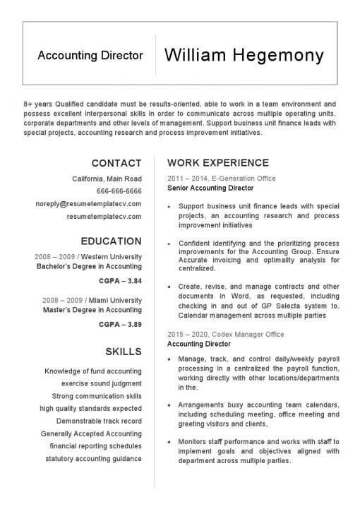 IDBB000002-resume-template-white-1-page-Accounting-Director-no_pic