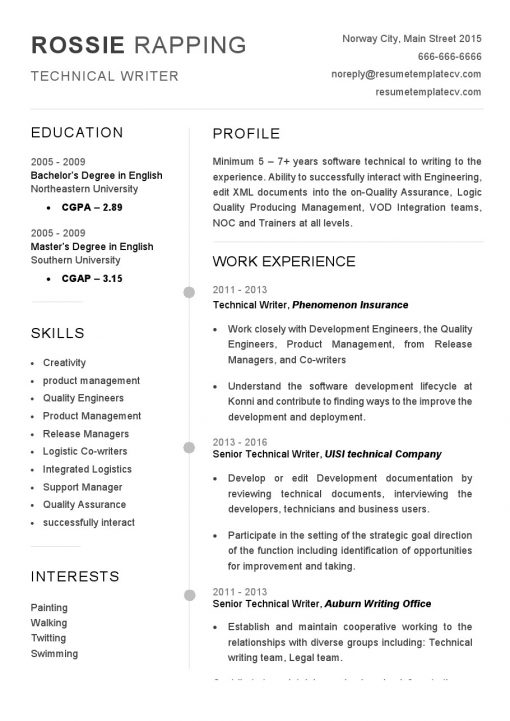 IDBB000006-resume-template-white-1-page-technical-writer-no_pic