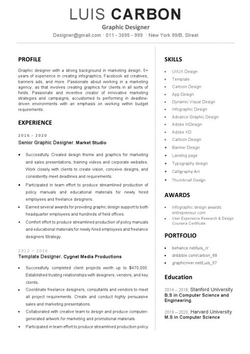 IDBB000015-resume-template-white-1-page-Graphic-Designer-no_pic