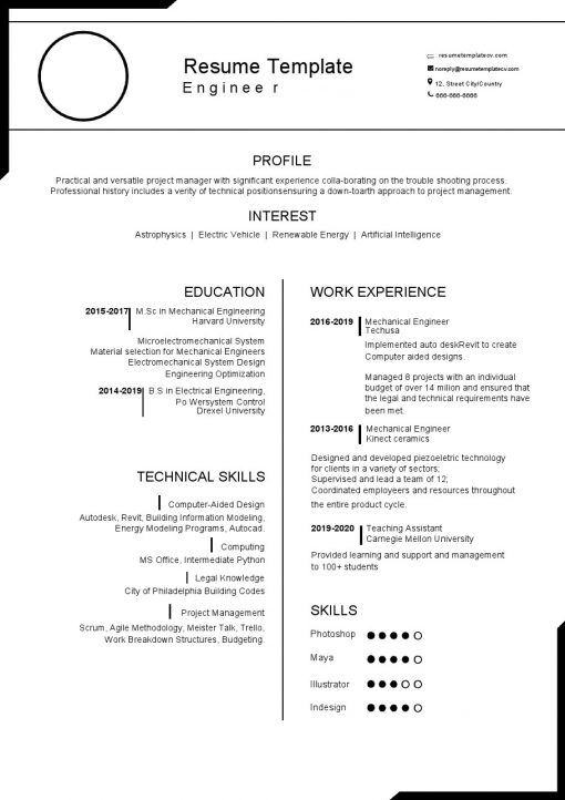 IDBB000016-resume-template-white-1-page-Engineer-no_pic