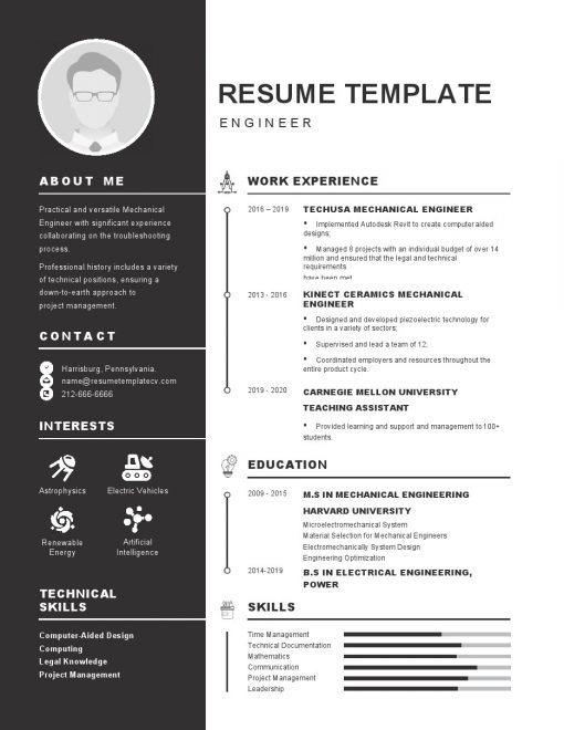 IDBB000017-resume-template-white-1-page-Engineer-with_pic