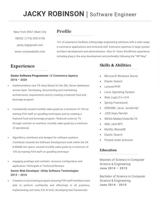 IDBB000019-resume-template-white-1-page-Software_Engineer-no_pic