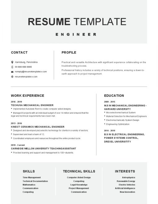 IDBB000021-resume-template-white-1-page-Engineer-no_pic