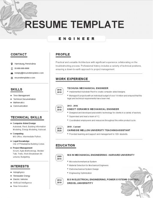 IDBB000022-resume-template-white-1-page-Engineer-no_pic
