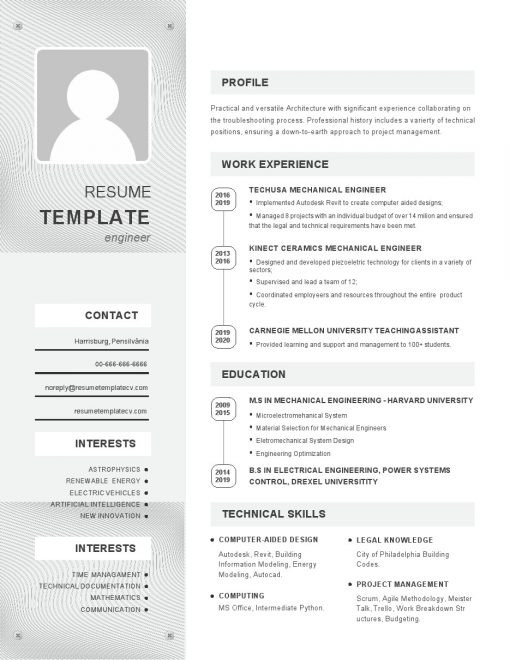 IDBB000023-resume-template-white-1-page-Mechanical_Engineer-with_pic