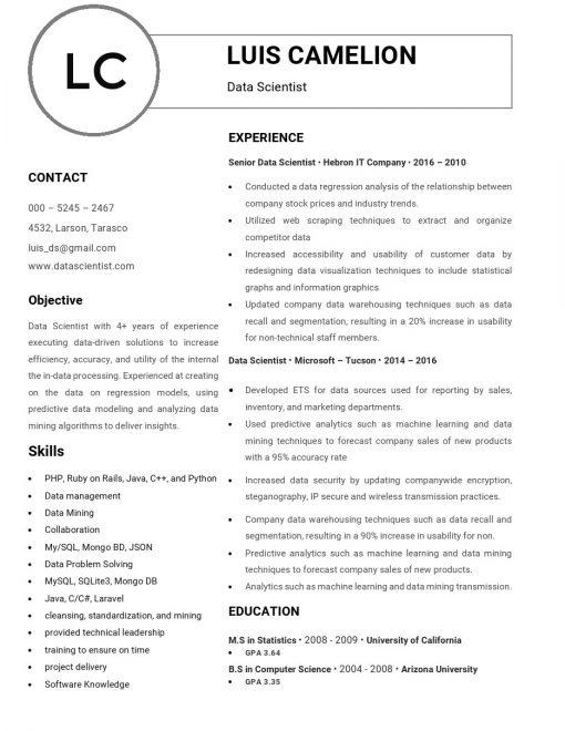 IDBB000025-resume-template-white-1-page-Data-Scientist-no_pic