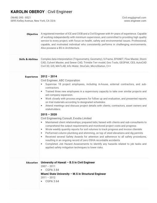 IDBB000028-resume-template-white-1-page-Civil_Engineer-no_pic