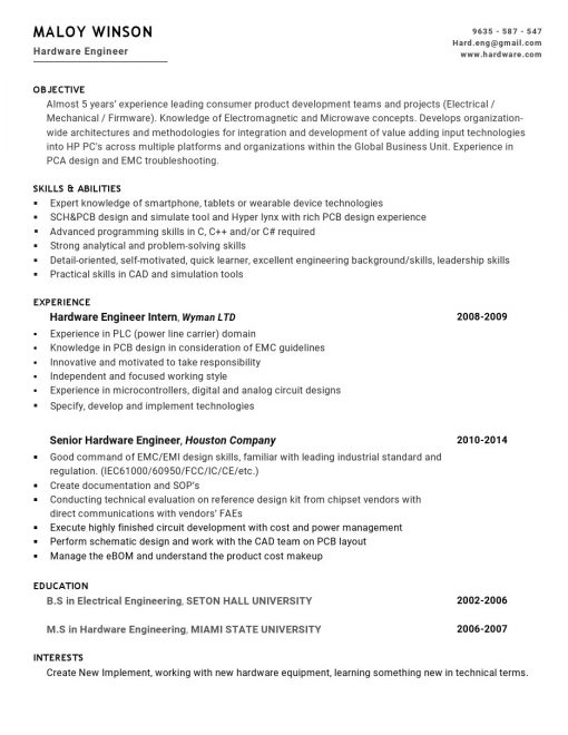 IDBB000033-resume-template-white-1-page-Hardware_Engineer-no_pic