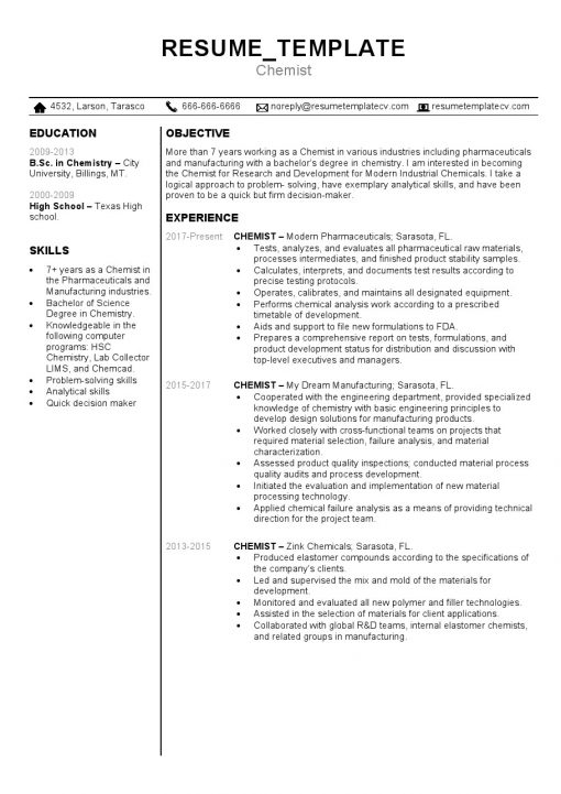 IDBB000041-resume-template-color-1-page-Chemist-no_pic