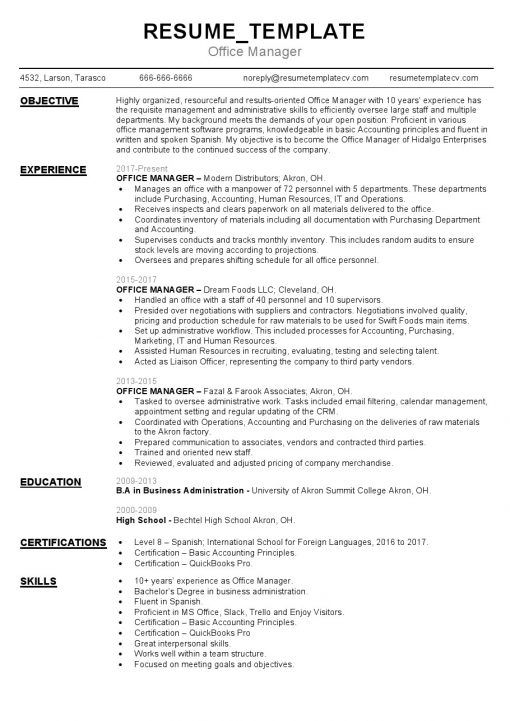 IDBB000057-resume-template-white-1-page-Office-Manager-no_pic