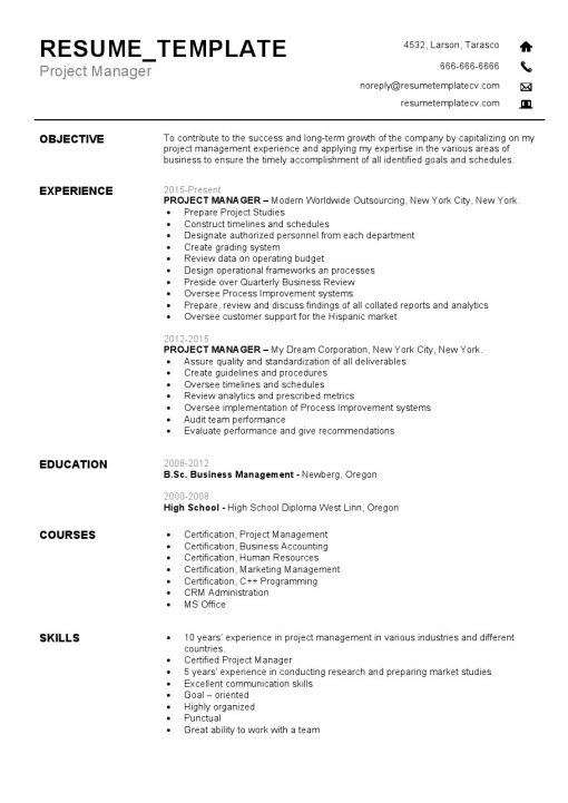 IDBB000058-resume-template-white-1-page-Project-Manager-no_pic