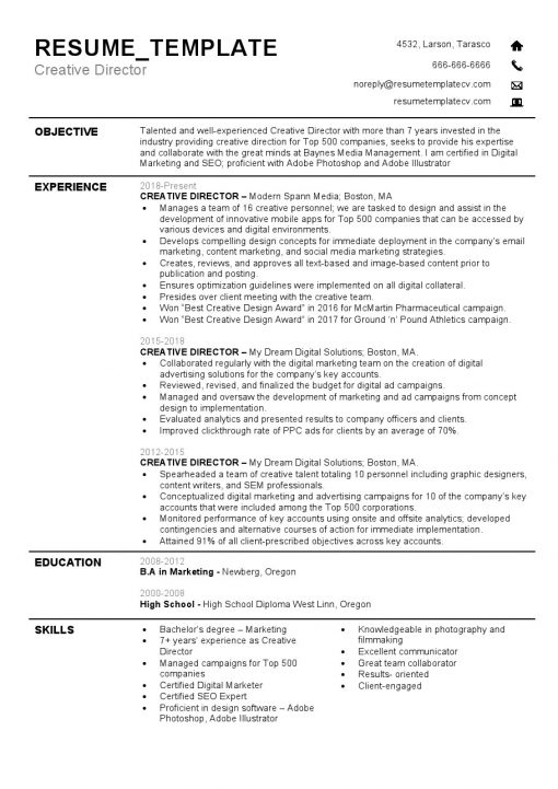 IDBB000059-resume-template-white-1-page-Creative-Director-no_pic
