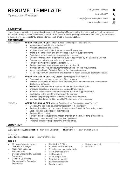 IDBB000060-resume-template-white-1-page-Operations-Manager-no_pic