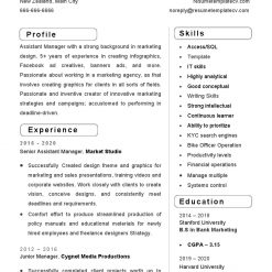 IDBB000072-resume-template-white-2-page-Assistant-Manager-no_pic1