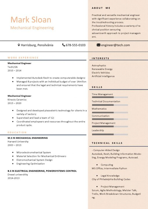 IDBB000079-resume-template-color-1-page-Mechanical_Engineer-no_pic