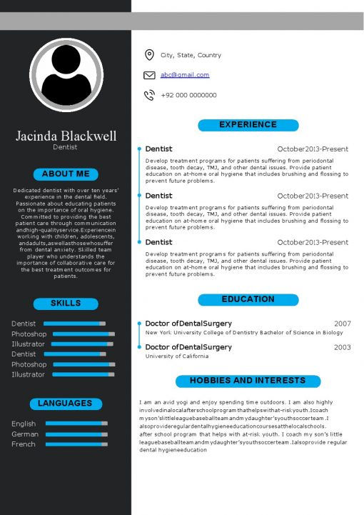 IDBB000084-resume-template-color-1-page-Dentist-with_pic