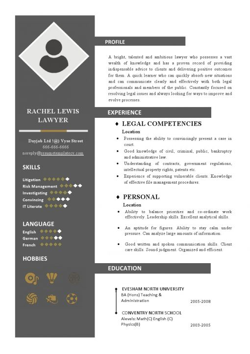 IDBB000086-resume-template-color-1-page-Lawyer-with_pic
