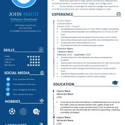 IDBB000099-resume-template-color-1-page-Software-Developer-with_pic